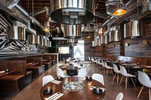 bàn ăn sử dụng trong nhà hàng lẩu nướng