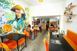 thiết kế nhà hàng chay Veggie Saigon
