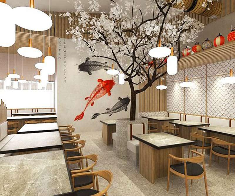 thiết kế nhà hàng Nhật hiện đại