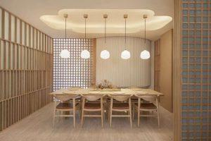 thiết kế nhà hàng thuần Nhật theo tinh thần Zen