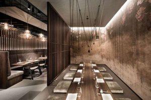 thiết kế không gian nhà hàng Nhật Bản
