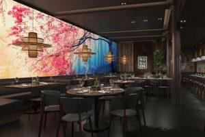 màu sắc trong thiết kế nhà hàng Nhật