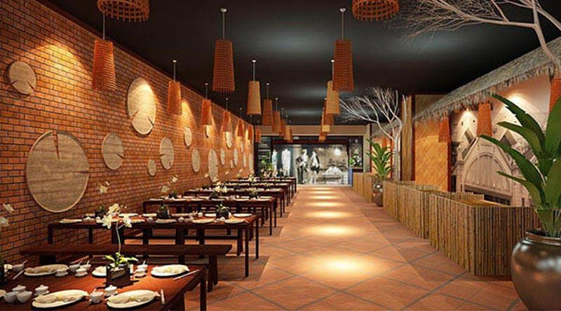 mẫu thiết kế nhà hàng bình dân