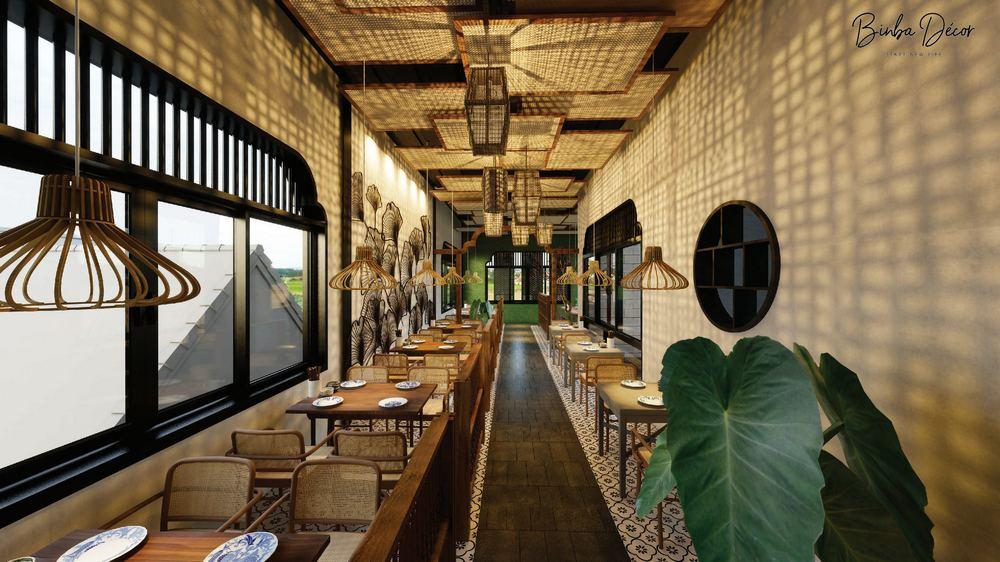 nội thất gỗ nhà hàng 1