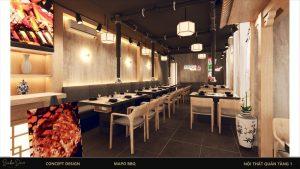 nội thất gỗ nhà hàng 3