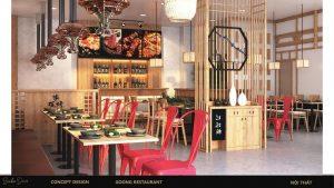 thiết kế nội thất nhà hàng 1