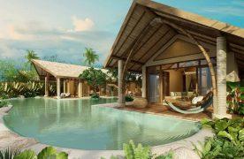 Thiết kế Resort độc đáo tạo ấn tượng tốt với khách hàng.
