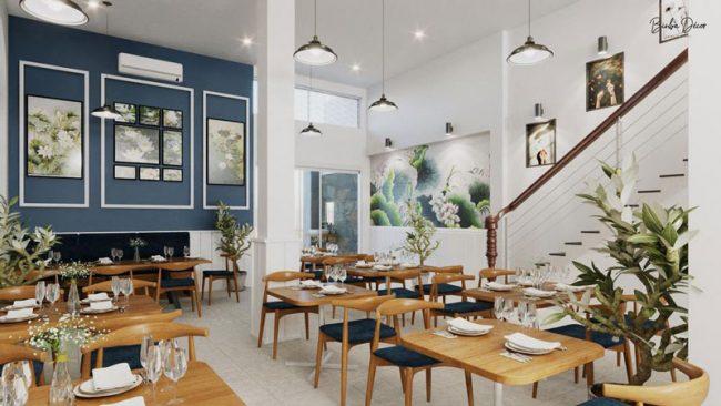 Trong trang trí nhà hàng màu sắc đóng vai trò rất quan trọng để tạo không gian đẹp và chuyên nghiệp